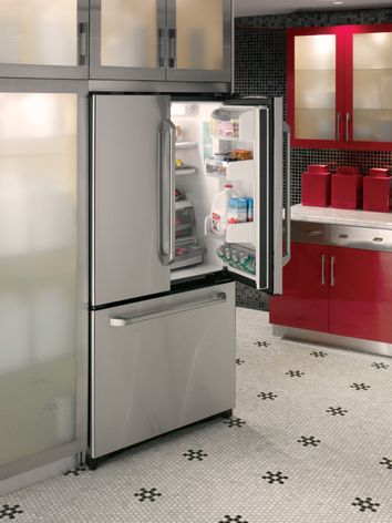 Counter Depth Refrigeratore Ge Cafe French Door Refrigerator