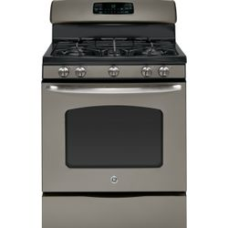 GE® gas range with Slate finish (Model JGB600EEDES)