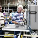 William Slaughter and Ronald Griffin, GE dishwasher production employees