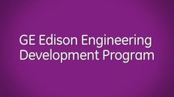 GE Edison Engineering Development Program (without background music)