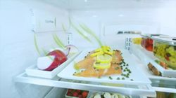 GE Café French door refrigerator's odor filter