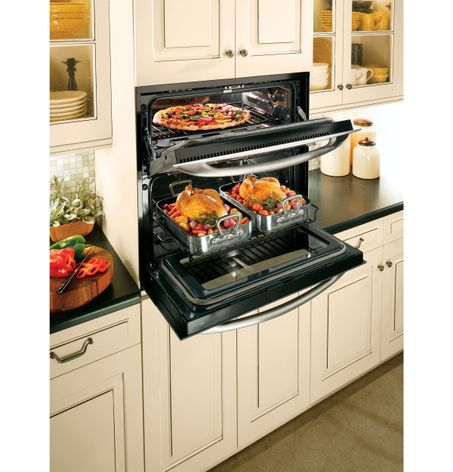 The GE Profile™ Single Double Wall Oven Provides Double Oven Versatility,  Yet Requires Only The Space Of A 30 Inch Single Wall Oven.
