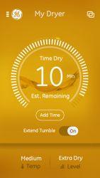 GE Laundry app—dryer