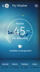 GE Laundry app—washer