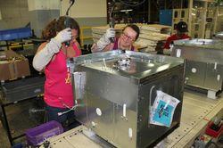 Tosha Jones and Sabrina Walker, employees Roper Corporation plant in LaFayette, Ga.