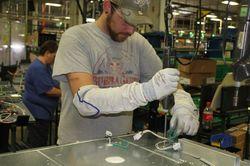 Johnathan Potts, employee Roper Corporation plant in LaFayette, Ga.