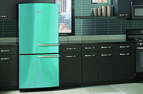 GE's Artistry refrigerator in Cupcake Blue | GE Appliances