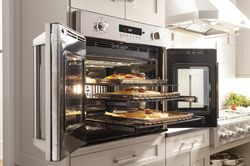 GE Monogram® French door wall oven (model ZET1FHSS)