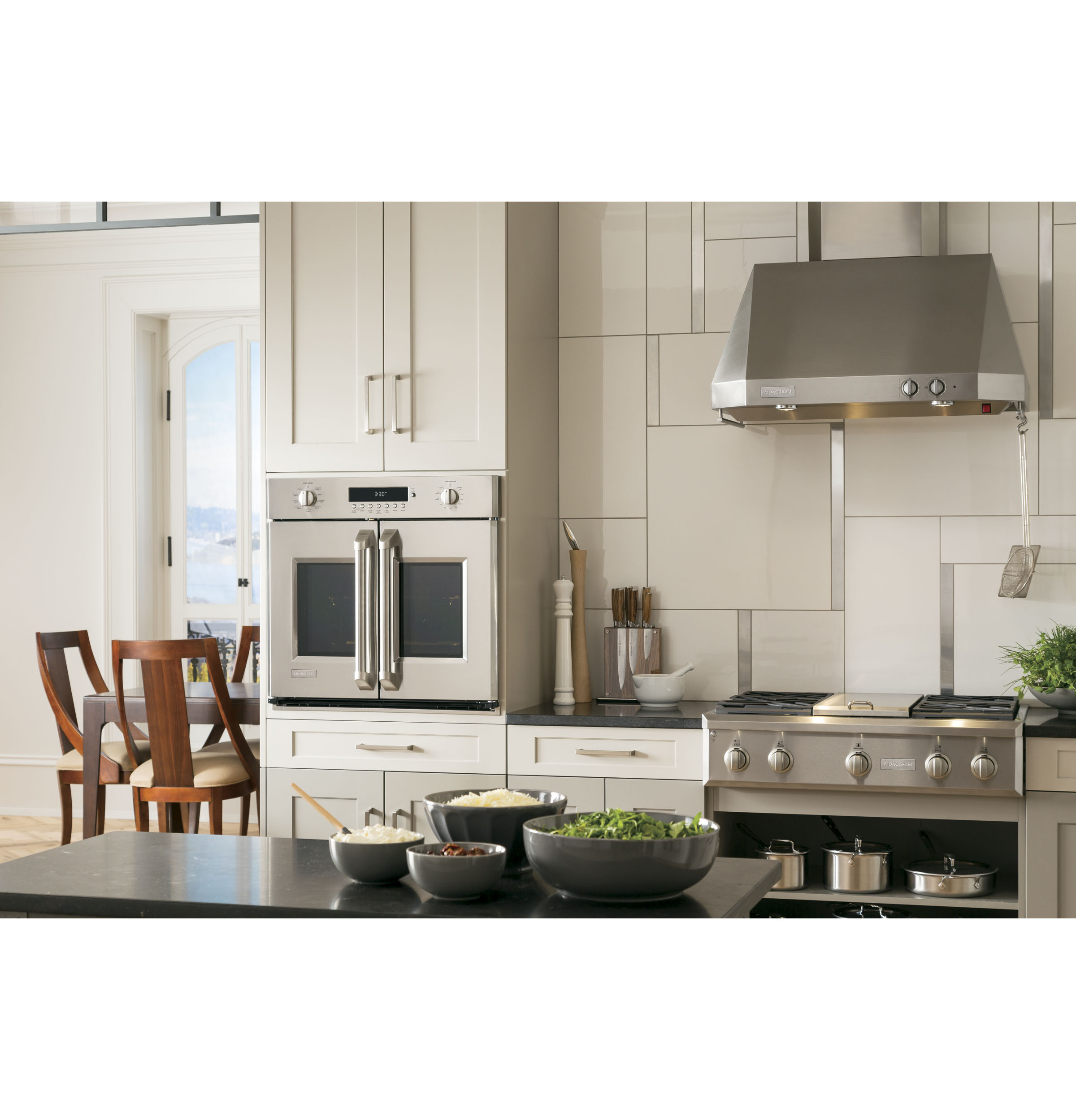 Kitchen With French Doors: New GE Monogram® French Door Wall Oven Puts Culinary