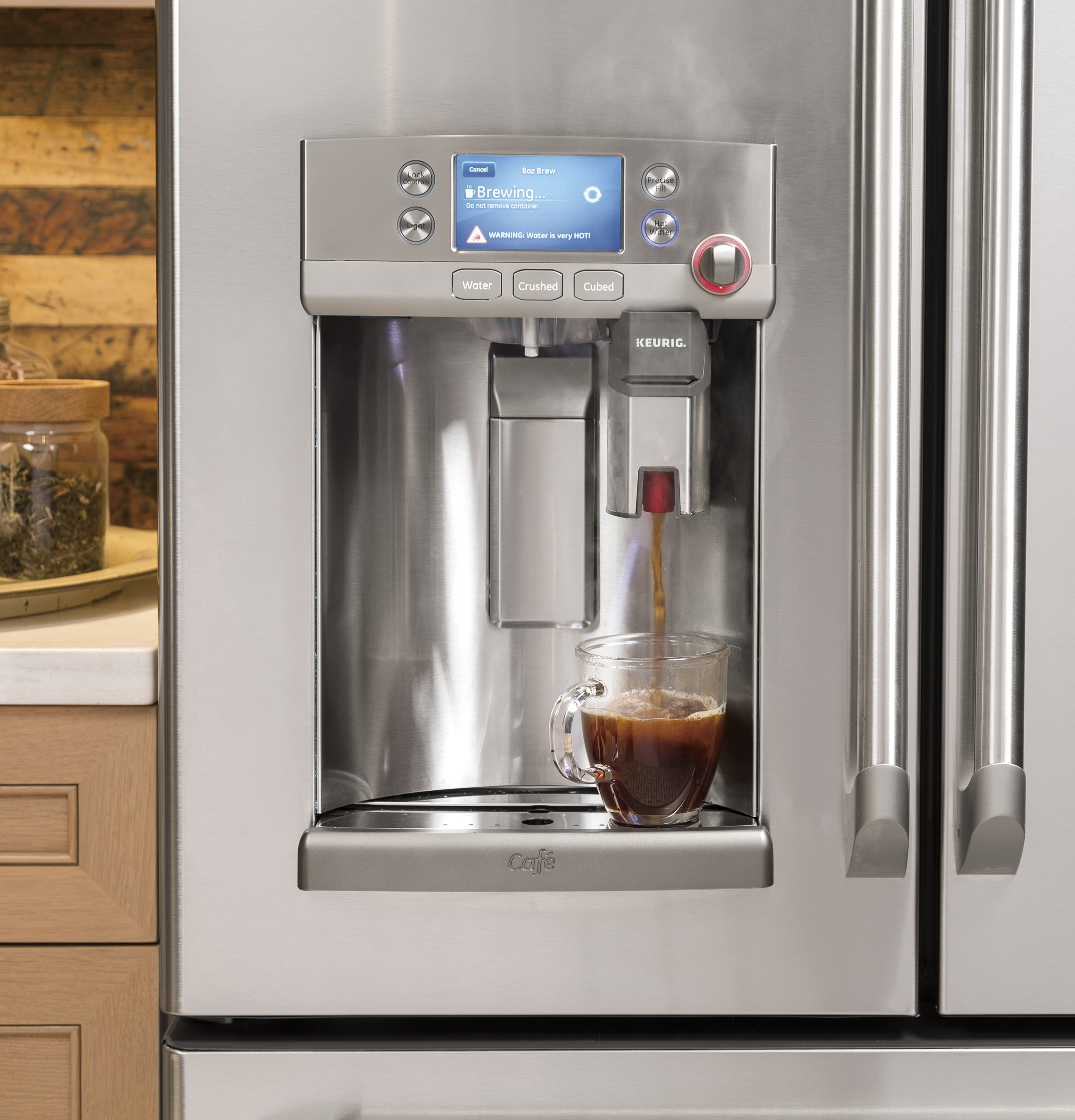 exciting cook stoves at lowes. GE  Cafe Series Refrigerator with Keurig K Cup Brewing System