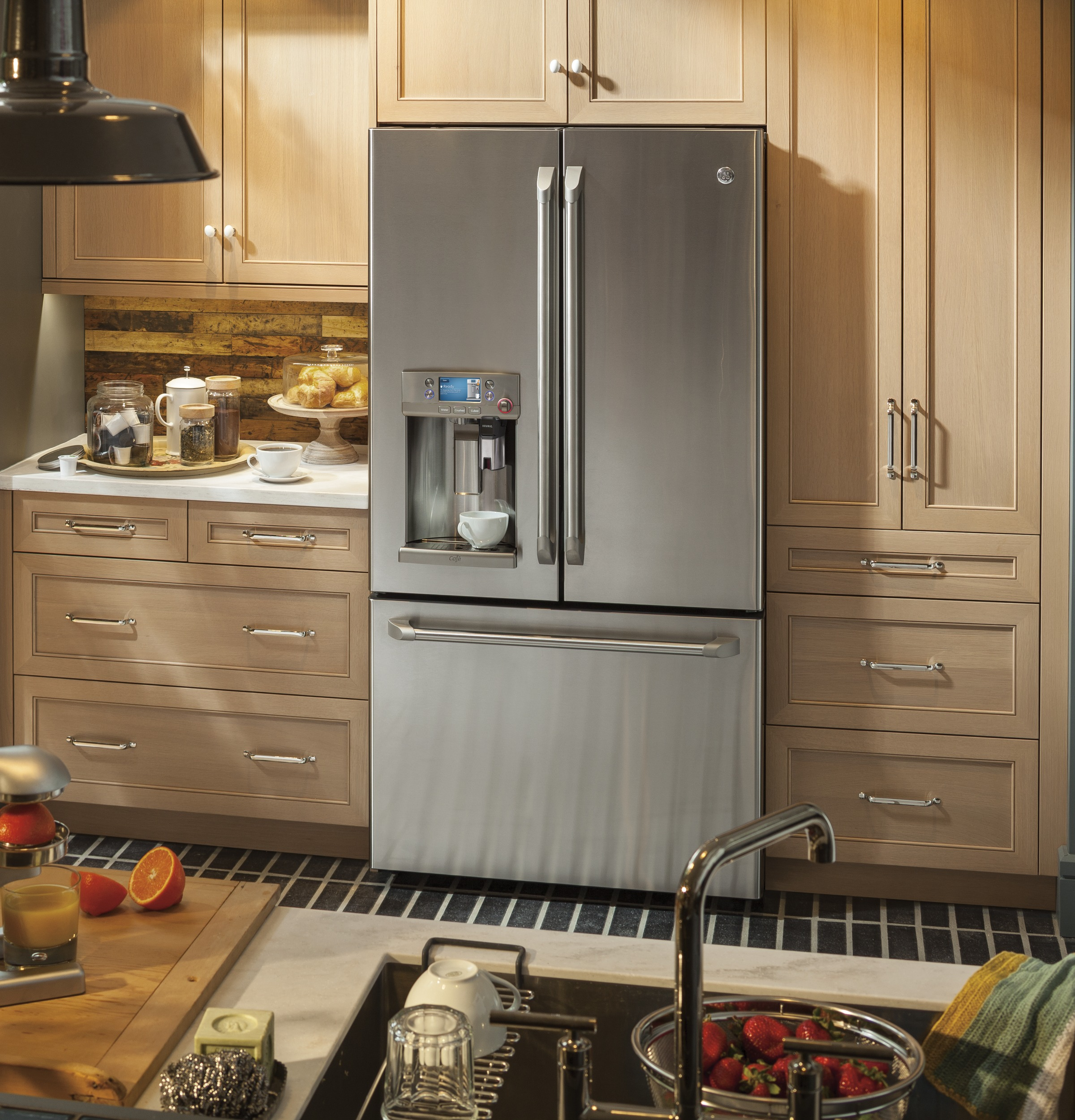Ge cafe series refrigerator with keurig k cup brewing system ge connected technology rubansaba