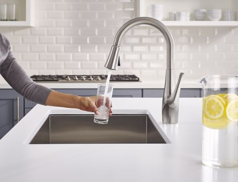 GE Appliances Partnered With Pfister To Develop The First Of Its Kind Faucet  With An Integrated Filtration System.