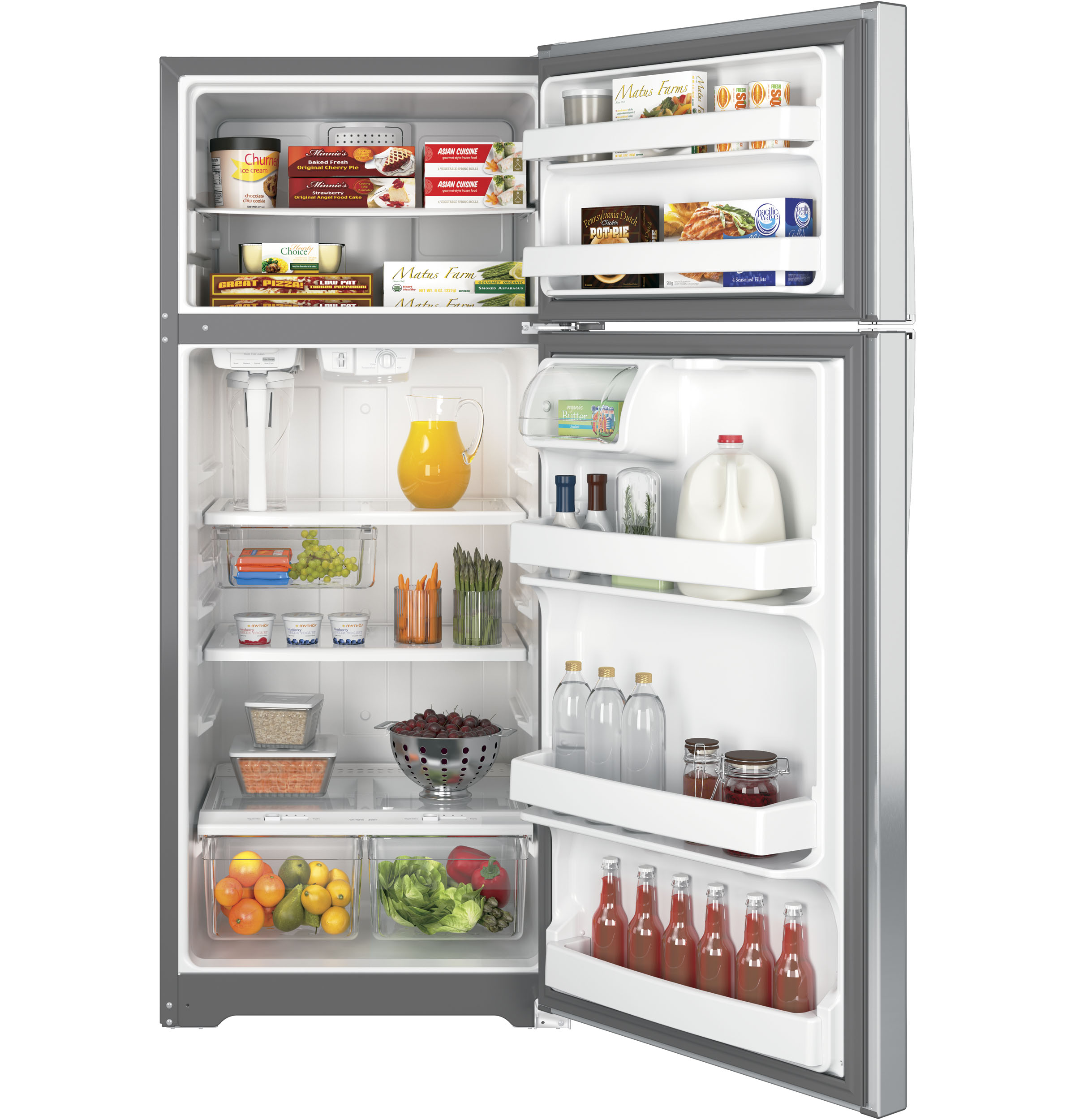 Free Picture Indoors Contemporary Stove Refrigerator: GE's New Autofill Pitcher Refrigerators Are Filled To The