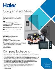 Haier Fact Sheet