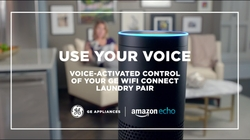 Use your voice: voice activated control of your GE Wi-Fi Connect laundry
