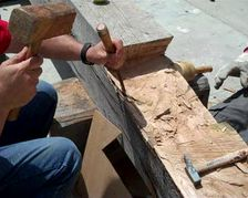 volunteers work on galveztown project at astilleros nereo in spain