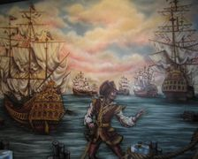 Mural at Pirates! Legends of the Gulf Coast