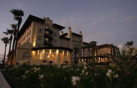 Hotel Galvez at Dusk