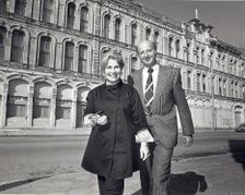 Cynthia Wood Mitchell and George Mitchell with Tremont House
