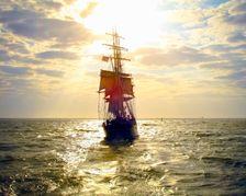 1877 Tall Ship Elissa Sailing