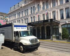 The Habitat for Humanity ReStore truck parked in front of The Tremont House Hotel