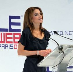 Queen Rania iof Jordan at LeWeb 2009