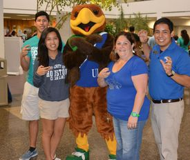 Students at Welcome Back Bash