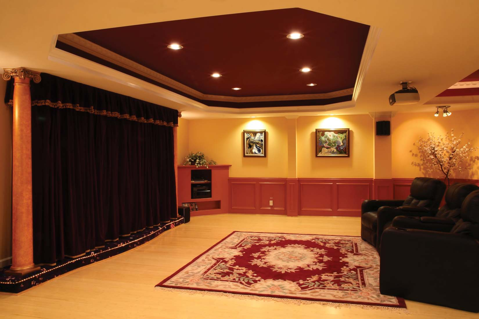 How to light a room for the ultimate home theater experience ge lighting north america news Home design ideas lighting