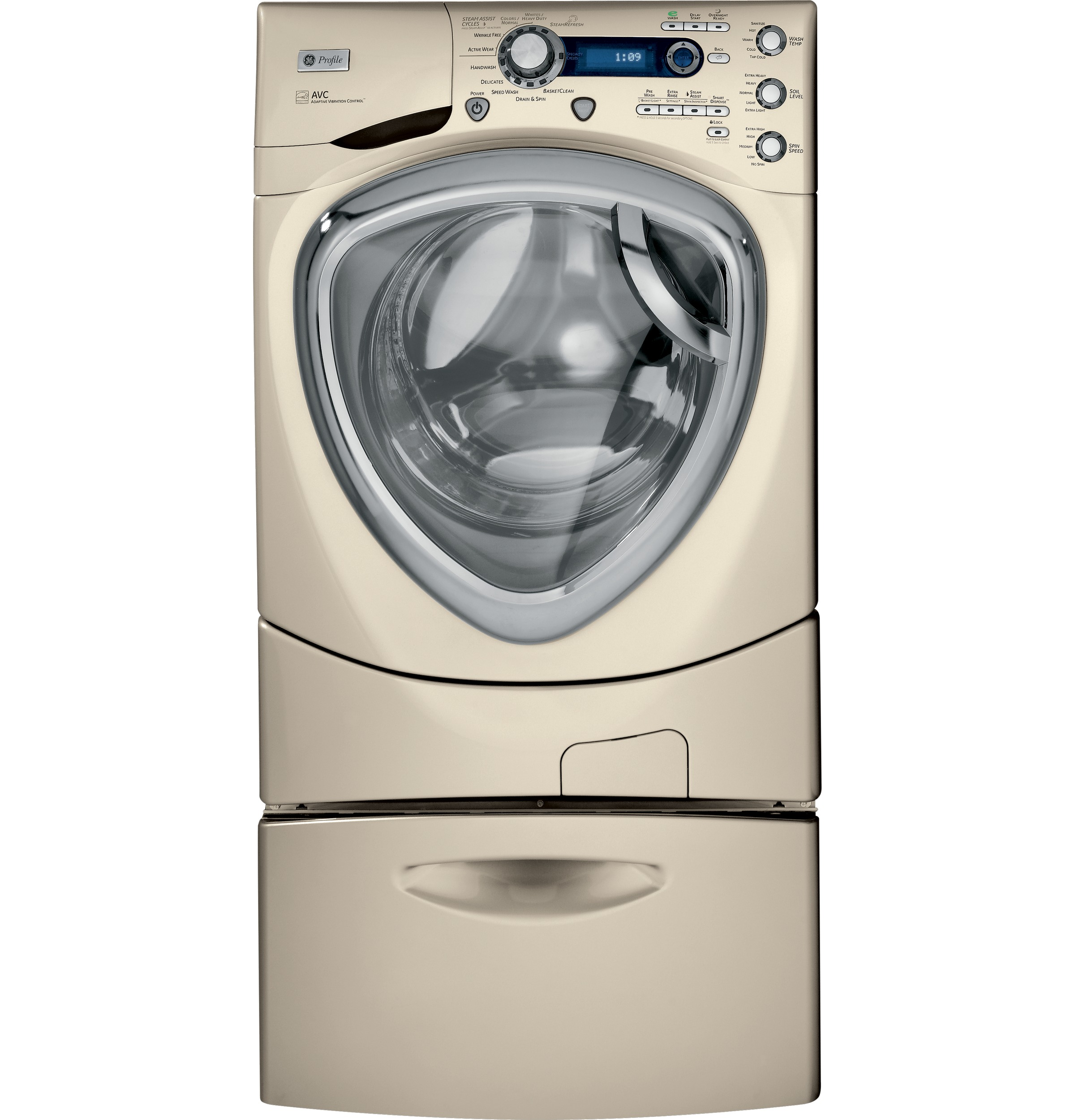 ge profile frontload washer with steam and overnight readymodel pfws4605lmg