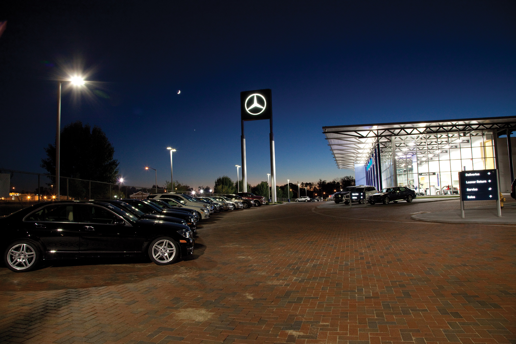 Auto dealer achieves all led aspirations with ge s for Mercedes benz of fort mitchell