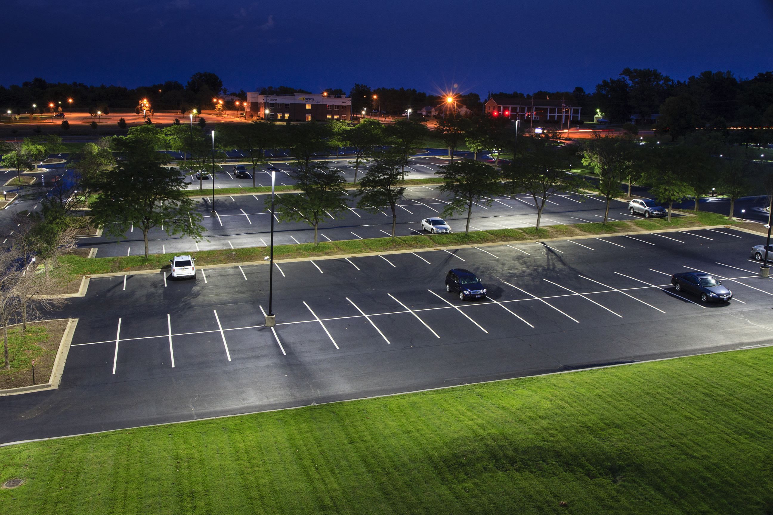Ge outdoor and office lighting solutions will save metlife nearly after upgrade led outdoor lighting aloadofball Images