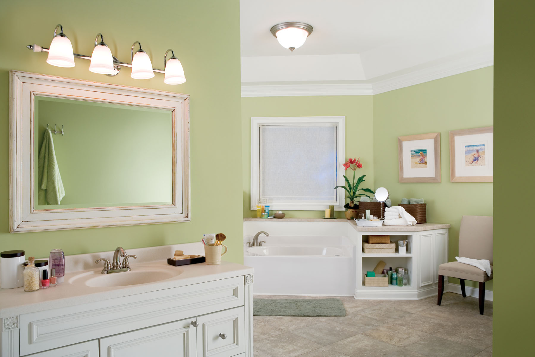 Ge reveal led lighting provides energy efficiency and for Light bulbs for bathrooms