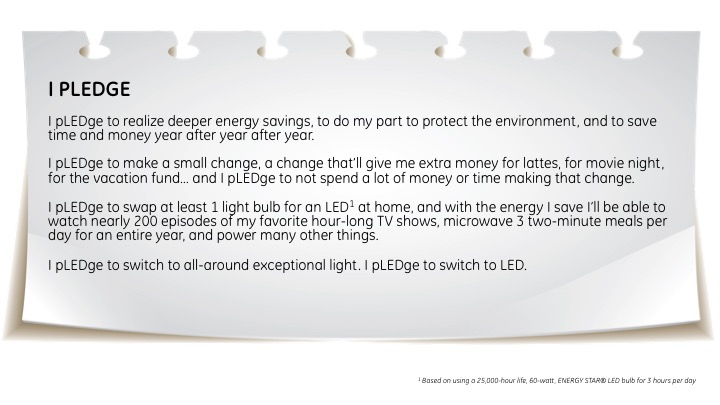 Make Every Day Earth Day Ge Lighting Asks Public To Take