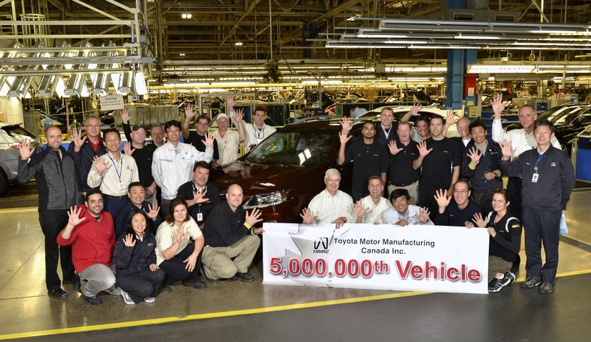 Toyota S Ontario Operation To Build 5 Millionth Vehicle In