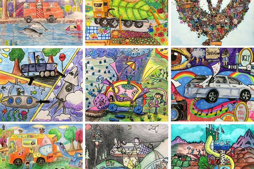 TORONTO ON April 6 2015 Toyotas Dream Car Art Contest Continues To Encourage The Limitless Imaginations Of Canadas Young People