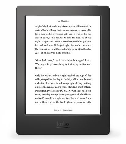 Kobo Aura H2O Reading Screen