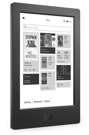 Kobo Aura H2O Home Screen - Angle
