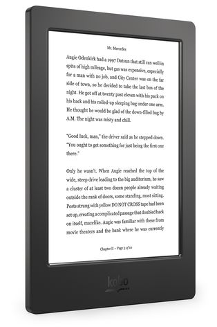 Kobo Aura H2O Reading Screen - Angle