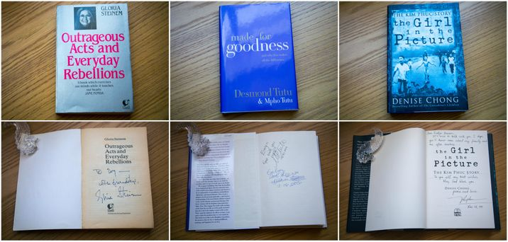 Evelyn's Signed Books
