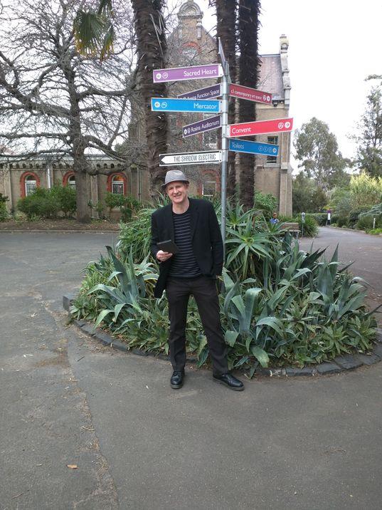 Tony standing