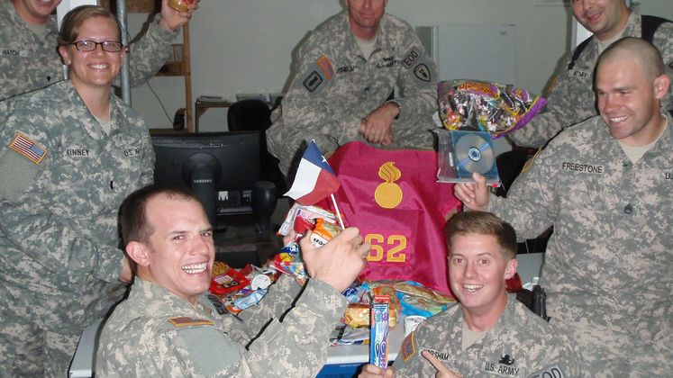 care packages U.S. military