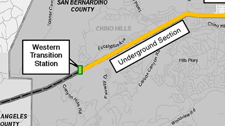 Chino Hills map undergrounding