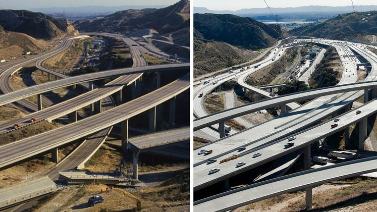 Northridge before and after