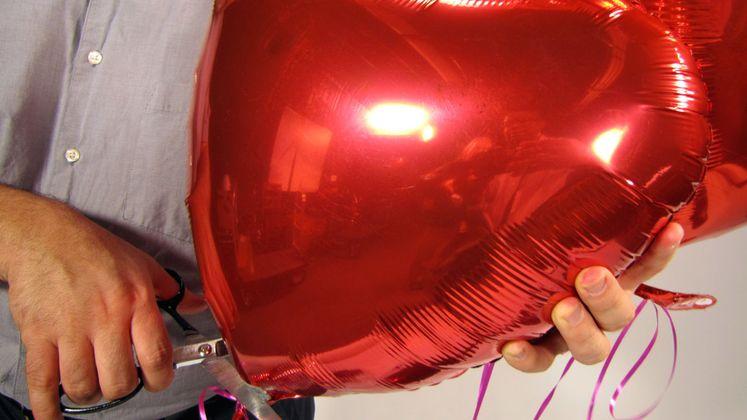 Valentine's Day Metallic Balloon Safety