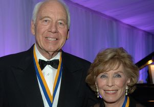 Bob and Marion Wilson with the UCLA Medals