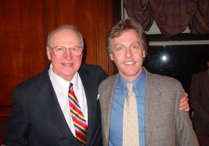 UCLA Neurology Professor David Teplow with MIT Physics Professor George Benedek (left)