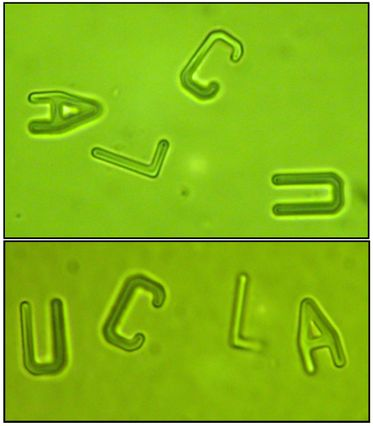 UCLA spelled in particles