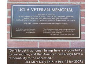 Graphic with dedication of veterans plaque