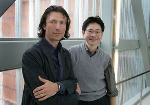 Alexander Kusenko left and Katsushi Arisaka UCLA physics professors