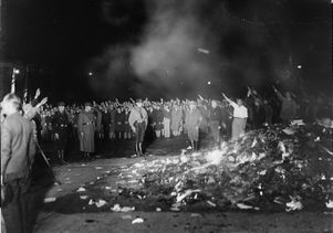 Book burning in Opera Square, Berlin